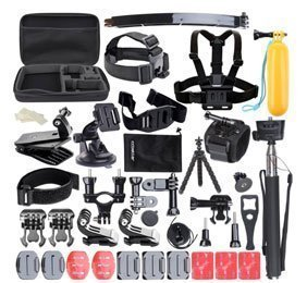 Ccbetter 50 in 1 Sports Action Camera Accessories Pack And Carry Bag