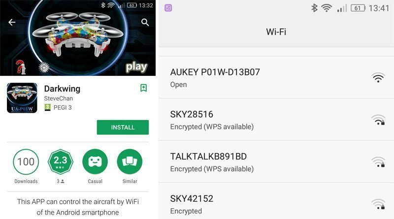 AUKEY Wi-Fi Controlled Mini Quadcopter