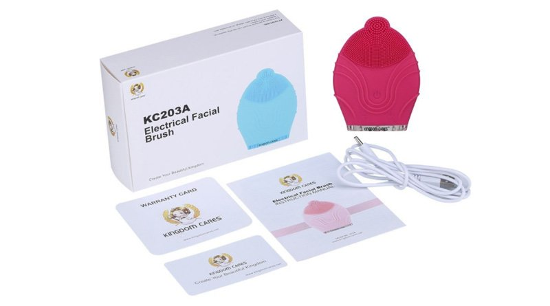 KINGDOMCARES Ultrasonic Waterproof Silicone Facial Cleansing Brush