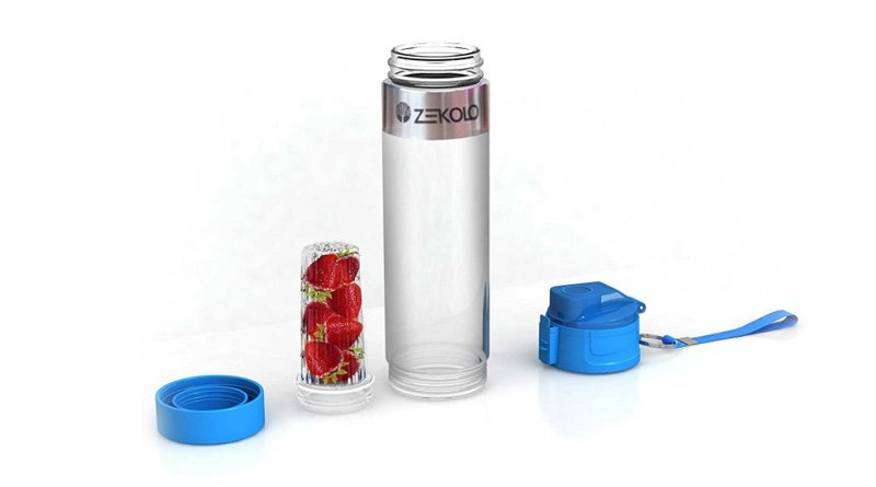 Zekolo Fruit Infuser Water Bottle BPA Free 800ml