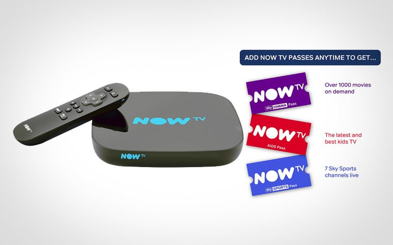 NOW TV Box Media Streamer Watch and catch-up on shows from Sky Atlantic, Sky Living, Sky1, Comedy Central, Nickelodeon, Nick Jr, MTV, Discovery and more.