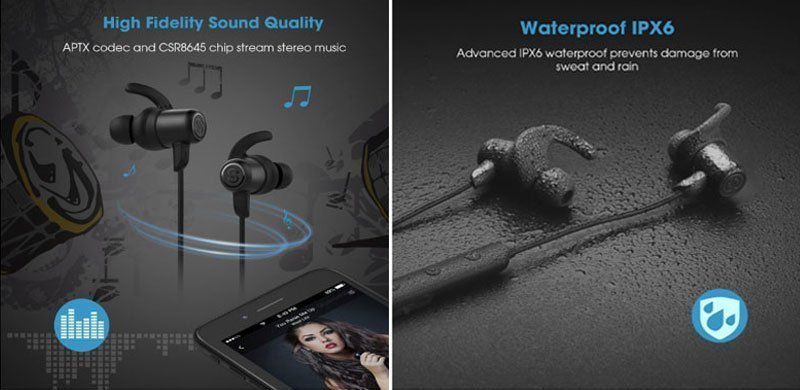 SoundPEATS Q35 Lightweight Sports Bluetooth Earphones